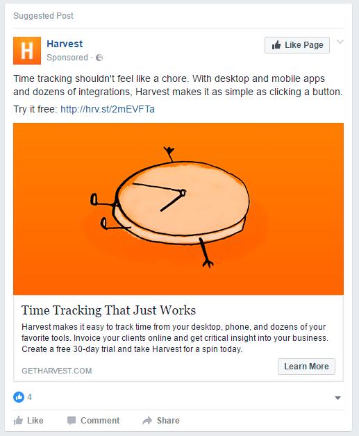 Facebook ad 2017
