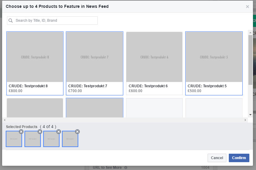 Facebook Ad Collection Setup Power Editor step 7